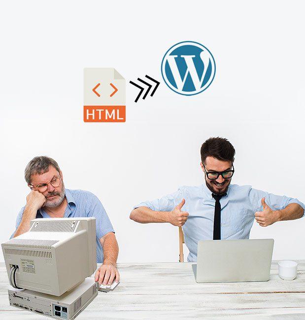 Convierte un site HTML en una plantilla Wordpress, en sólo 3 pasos.